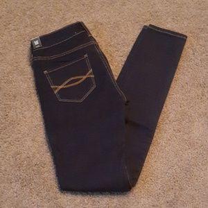 Abercrombie & Fitch Super Skinny Dark Denim Jeans